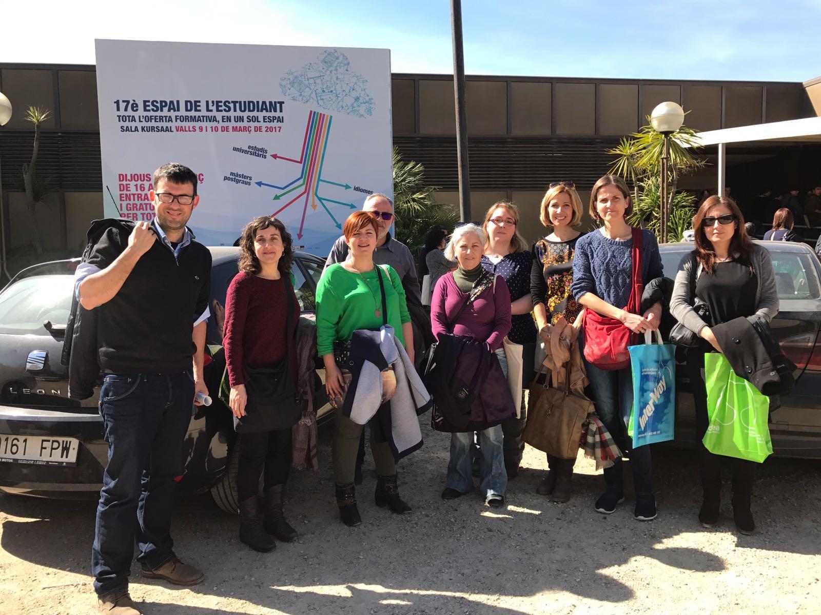 """Visita a la Fira de Valls """"espai de l'estudiant"""""""