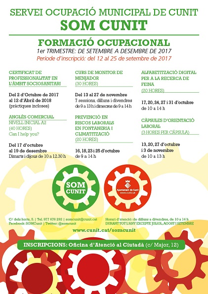 Ja podeu consultar les formacions del SOM –  1er trimestre setembre-desembre 2017