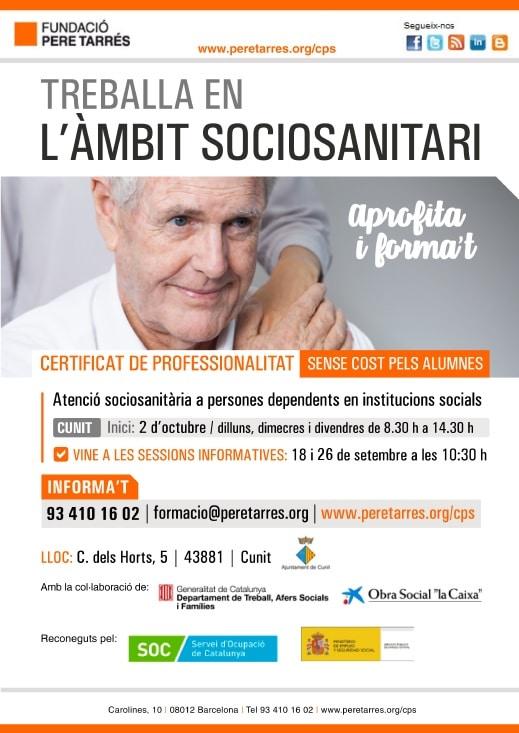 Sessió informativa del Certificat de Professionalitat d'Atenció sociosanitària