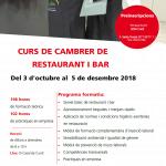 Curs de cambrer/a de restaurant i bar
