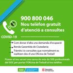 Nou servei d'atenció telefònica gratuïta del SOC