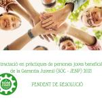Read more about the article Contractació en pràctiques de persones joves beneficiàries de la Garantia Juvenil (SOC – JENP) 2021