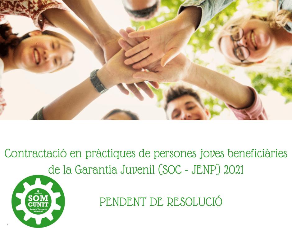 You are currently viewing Contractació en pràctiques de persones joves beneficiàries de la Garantia Juvenil (SOC – JENP) 2021